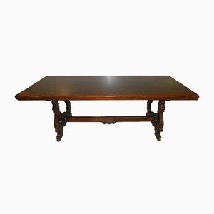 Italienischer Fratino Stil Tisch aus Nussholz mit Lyre Beinen, 1900er