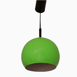 German Spherical Green Metal Ceiling Lamp from Briloner Leuchten, 1980s