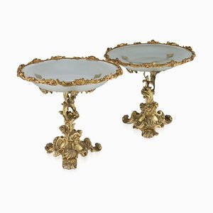 19th Century Russian Silver & Glass Cups by Ignaty Sazikov for Ignaty Sazikov, 1867, Set of 2