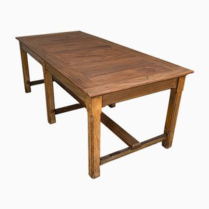 Large English Teak & Mahogany Refectory Table, Circa 1900