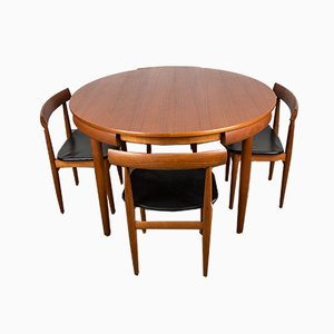 Danish Teak 630/31 Dining Table & Chairs by Hans Olsen for Frem Røjle, 1960s, Set of 4