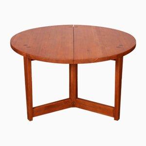 Table de Salle à Manger Ronde par Jacob Kielland-Brandt pour I. Christiansen, 1960s