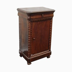 Empire Walnut Nightstand, 1920s