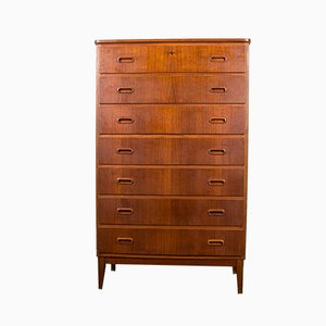 Large Danish Teak Semainier Chest of Drawers, 1960s