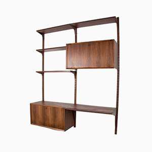 Danish Rosewood Modular Wall Unit by Poul Cadovius for Cado, 1960s