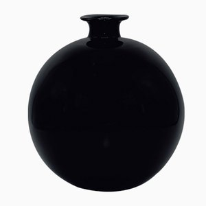Black Vase by Harald Notini for Böhlmarks, 1930's