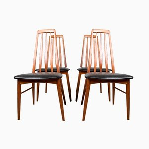 Danish Teak Eva Chairs by Niels Koefoed for Koefoeds Hornslet, 1960s, Set of 4