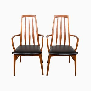 Danish Teak Eva Chairs by Niels Koefoed for Koefoeds Hornslet, 1960s, Set of 2