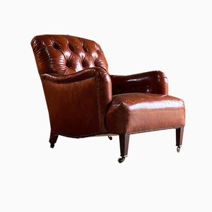 19th Century Bridgewater Armchair by Howard & Sons for Howard & Sons, 1890s
