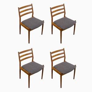 Dänische Teak 191 Esszimmerstühle von Arne Vodder für Cado, 1960er, 4er Set