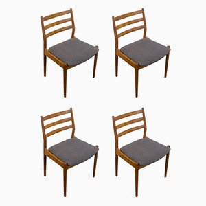 Danish Teak 191 Dining Chairs by Arne Vodder for Cado, 1960s, Set of 4