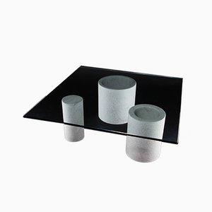 Carrara Marble Coffee Table, 1980s