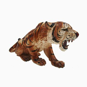 Vintage Tiger Geschirr aus Keramik, 1960er