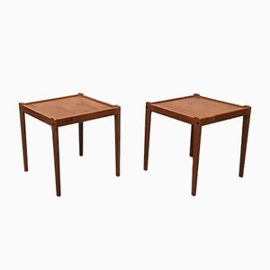 Mid-Century Danish Teak Side Tables from Brdr. Furbo, Set of 2