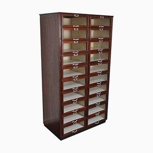 Vintage Dutch Mahogany Haberdashery Shop Cabinet, 1930s