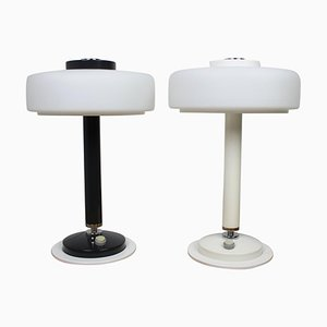 Black and White Table Lamps from Napako, 1960s, Set of 2