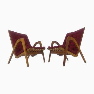 Art Deco Armlehnstühle von Jan Vanek, 1930er, 2er Set