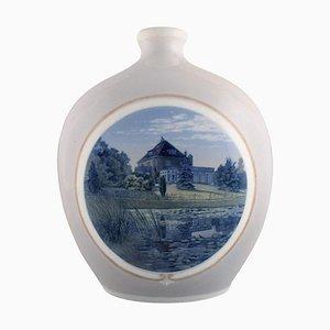Große Vase aus handbemaltem Porzellan von Arthur Boesen für Royal Copenhagen
