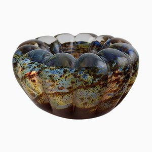 Murano Bowl in Mouth-Blown Glass, Italy, 1960s