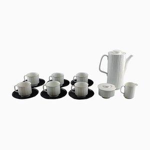 Schwarzes Porzellan Kaffeeservice von T. Wirkkala für Rosenthal Studio-Line, 15er Set