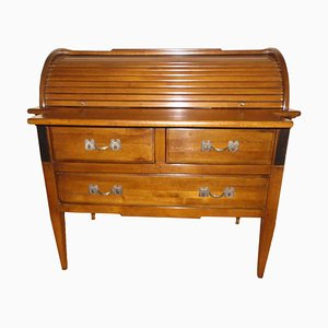 Antique Secretaire with Roll Closure and Pull-Out Writing Surface