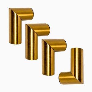 Geometrical Brass Sconce by Nanda Vigo for Arredoluce, Italy, 1970