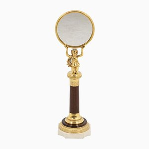 Small Mirror in Rosewood and Gilt Bronze