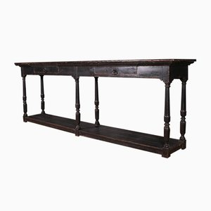 Narrow English Painted Console Table, 1890s