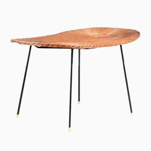 Wicker Coffee Table, 1950s