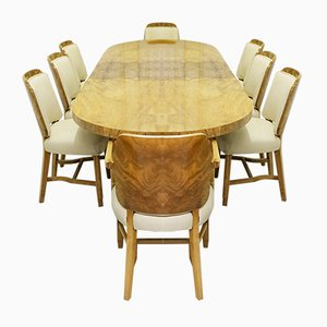 Art Deco Dining Suite, Set of 9