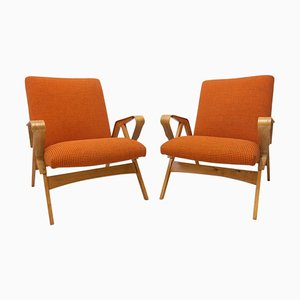 Mid-Century Armlehnstühle aus Bugholz von Francis Jirák für Tatra Acquisition, 2er Set