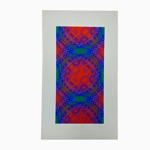 Vasarely, Kinetics 1, 1965, Serigraph