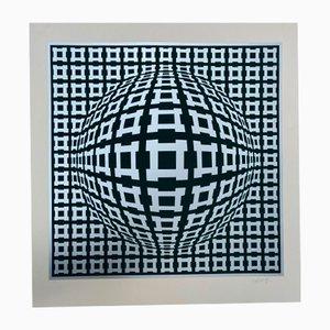 Écran Vasarely, Kinetics 9, 1965, Sérigraphie
