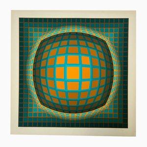 Vasarely, Kinetics 5, 1965, Sérigraphie