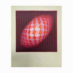 Ecran Vasarely, Kinetics 10, 1965, Sérigraphie