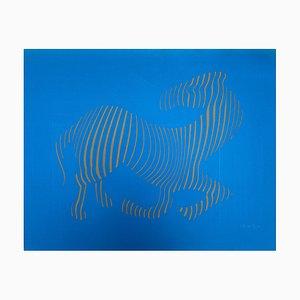 Vasarely, Zebra, 1989, Embossing