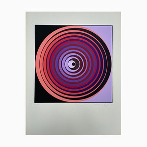 Vasarely, Kinetics 2, 1965, Serigrafía