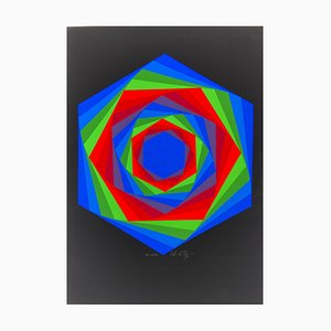 Vasarely, Kinetics 7, 1965, Siebdruck
