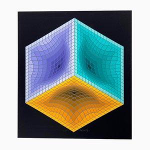 Vasarely, Kinetics 4, 1965, Silkscreen