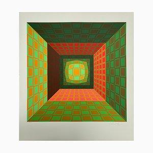 Vasarely, Kinetics 8, 1965, Siebdruck