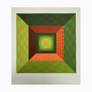 Vasarely, Kinetics 8, 1965, Silkscreen