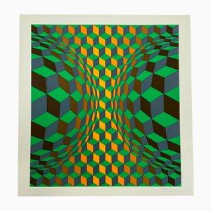 Vasarely, Kinetics 3, 1965, Silkscreen
