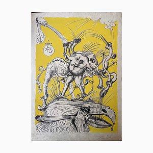 Salvador Dali, The Comic Dreams Pantagruel, 1973, Lithographie