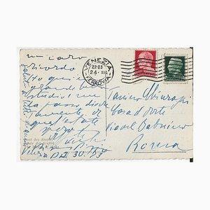 Filippo De Pisis, Autograph Postcard, 1953