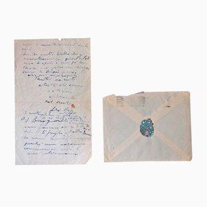 Lettre Autographe Filippo De Pisis, 1947