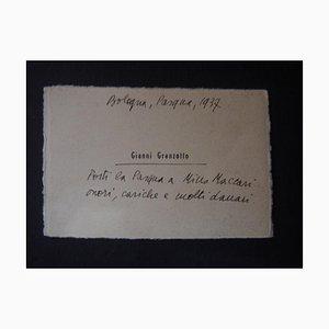 Filippo De Pisis - Frohe Ostern Karte von Gianni Granzotto - 1937