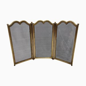Antique Italian Gilt Brass Fireplace Screen