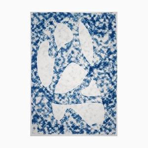 Grandes Monotypes, Nuages Translucides Bleus, 2021