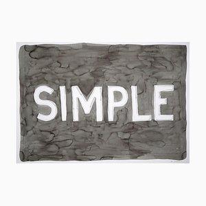 Simple Urban Style Word Art, Black Ink on Watercolor Paper, 2021
