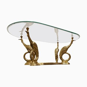 Brass Peacock Coffee Table, 1970s